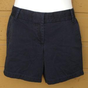J.Crew Chino Shorts, 10, Navy 4 pocket Zipper